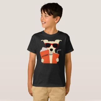 Movie Theatre Dog 3D Glasses Popcorn Kids T-Shirt