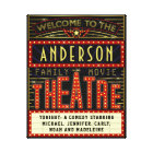 Movie Theatre Marquee Home Cinema | Custom Name Canvas Print