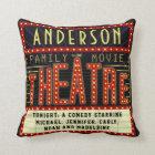 Movie Theatre Marquee Home Cinema | Custom Name Cushion