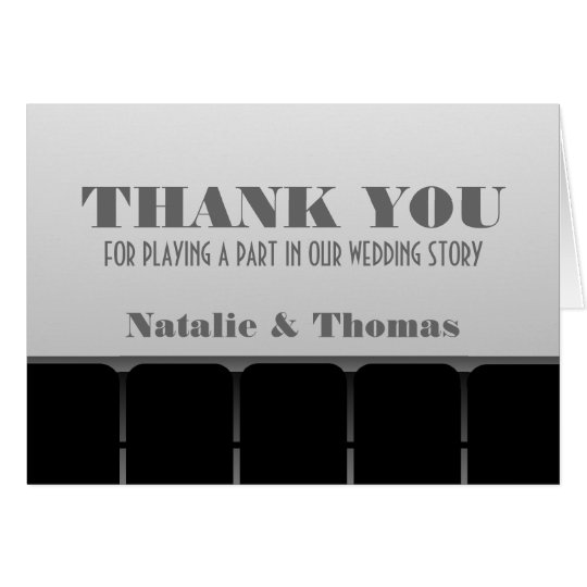 Movie Theatre Thank You Card, Grey Card