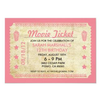 Movie Ticket Card