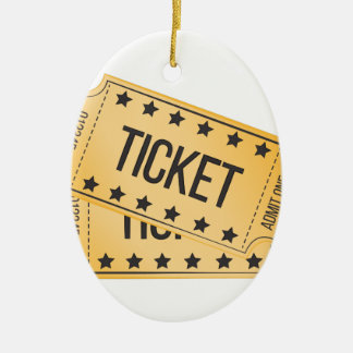 Movie Ticket Christmas Ornament