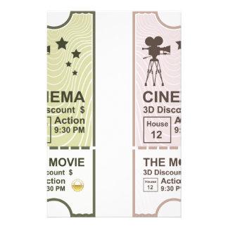 Movie Ticket Stationery Design