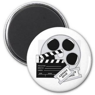 Movie Tickets 6 Cm Round Magnet