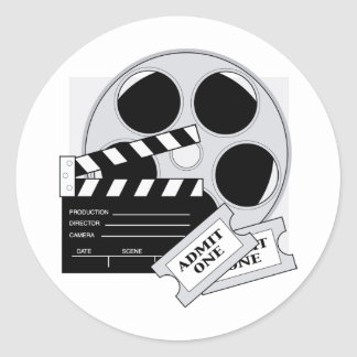 Movie Tickets Classic Round Sticker