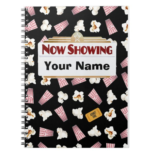 Movies and Popcorn Customisable Spiral Notebook
