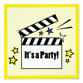 Movies Birthday Party 13 Cm X 13 Cm Square Invitation Card