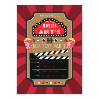 Movies Hollywood Party Invitations