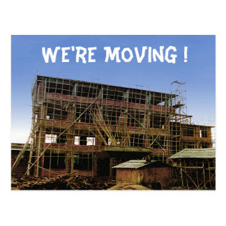 Moving Change of Address Funny House Building Postcard