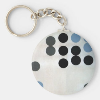 Moving Circles by Sophie Taeuber-Arp Basic Round Button Key Ring
