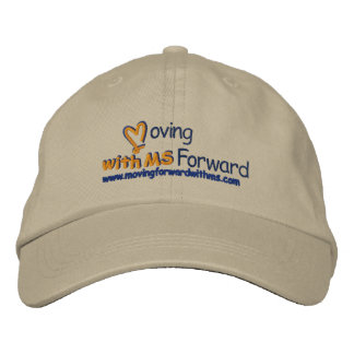 moving forward hat embroidered cap