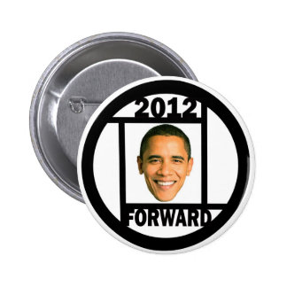 Moving Forward with Obama in 2012 6 Cm Round Badge