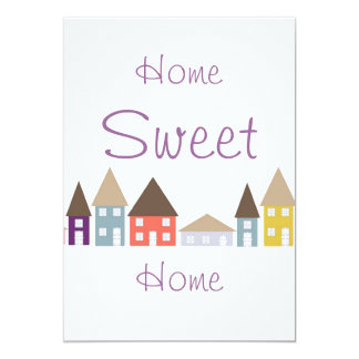 Moving Home House warming Party 13 Cm X 18 Cm Invitation Card