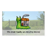 Moving House announcement snail Pack Of Standard Business Cards