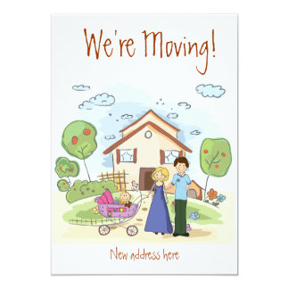 moving house cards personalized invitation