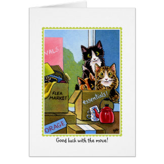 Moving House Cat Greetings Card