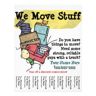 Moving. Junk Hauler. Promotional flyer
