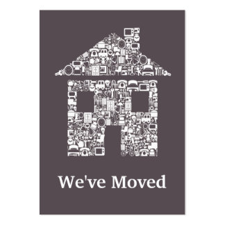Moving Out Change of Address Notification Cards Large Business Cards (Pack Of 100)