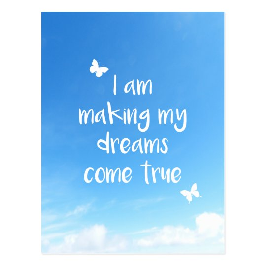 Moving Overseas Travel Farewell Dreams Quote Postcard