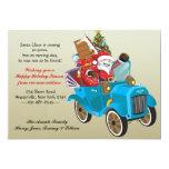Moving Santa Holiday Moving Announcement 13 Cm X 18 Cm Invitation Card