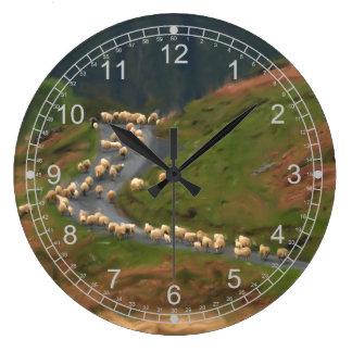 Moving Sheep Large Clock