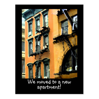 Moving to a new apartment post card