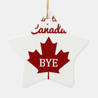 Moving to Canada Ceramic Star Decoration