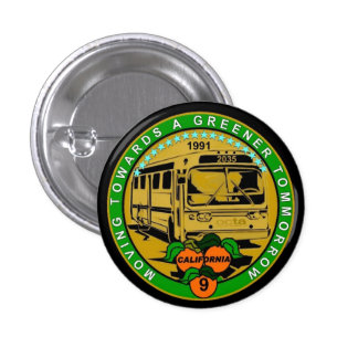 Moving Towards a Greener Tomorrow 3 Cm Round Badge