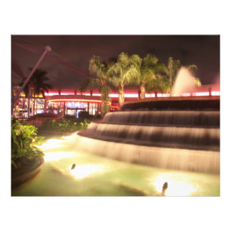 moving water abstract lights picture fountain personalized flyer