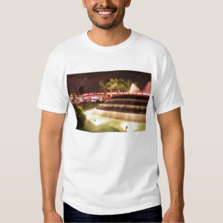 moving water abstract lights picture fountain tee shirt