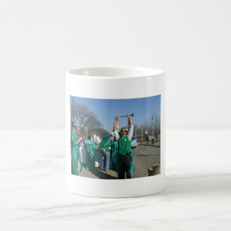 Mow-Bama (Obama) marches with the Lawn Rangers Basic White Mug