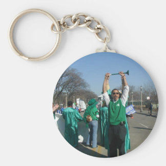 Mow-Bama (Obama) marches with the Lawn Rangers Key Chain