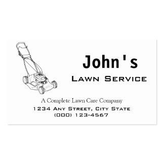 Mower Complete Lawn Service Business Card