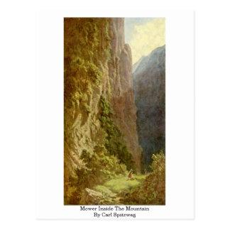 Mower Inside The Mountain By Carl Spitzweg Postcard
