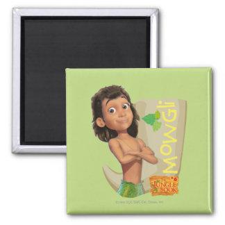 Mowgli 1 square magnet
