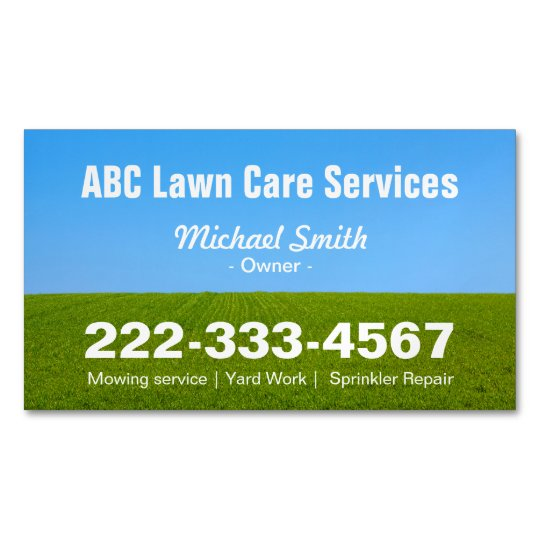 Mowing Lawn Care Green Field Grass Blue Sky