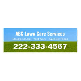Mowing Lawn Care Green Grass Field Mini Card Pack Of Skinny Business Cards