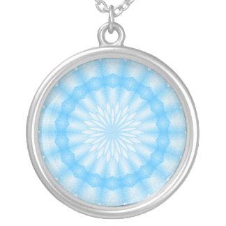 Mozaik Mandala (blue) Silver Plated Necklace