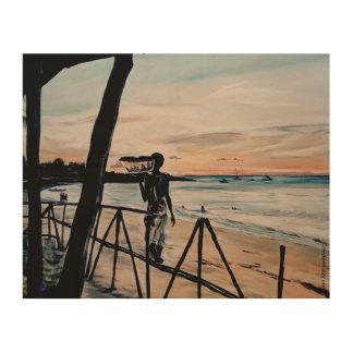 Mozambican Sunset - Print on Wood Wood Print