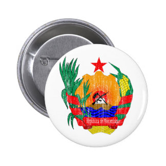 Mozambique Coat Of Arms 6 Cm Round Badge