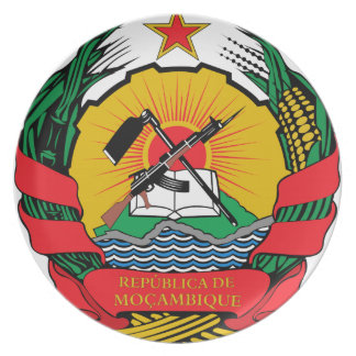 Mozambique Coat of Arms Dinner Plate