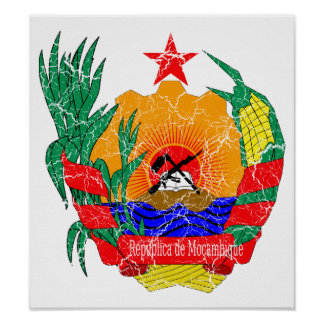Mozambique Coat Of Arms Poster