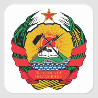 Mozambique Coat of Arms Square Sticker