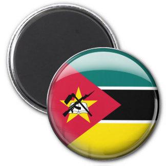 Mozambique Flag 6 Cm Round Magnet