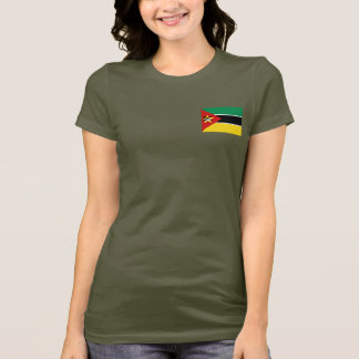 Mozambique Flag and Map dk T-Shirt
