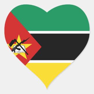 Mozambique Flag Heart Sticker