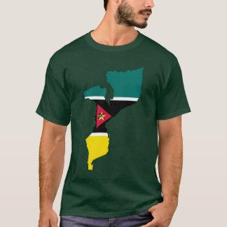 Mozambique Flag Map T-Shirt