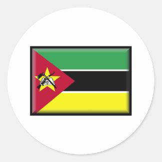 Mozambique Flag Round Sticker