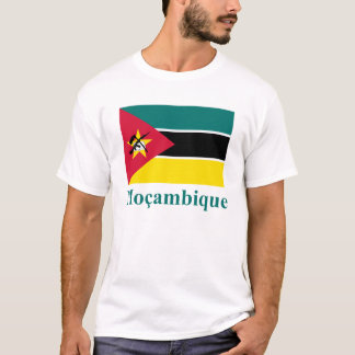 Mozambique Flag with Name in Portuguese T-Shirt