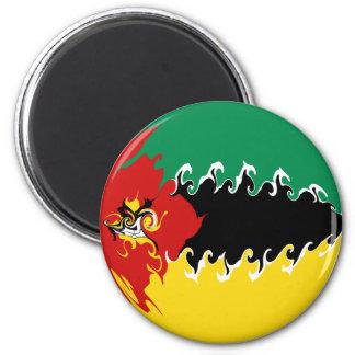 Mozambique Gnarly Flag 6 Cm Round Magnet